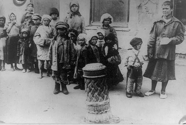 Children in Russia during 1921 Famine