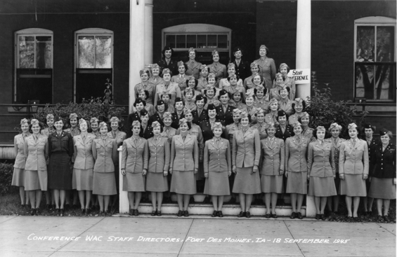 1945 Conference of Women's Army Corps (WAC) Directors in which Lieutenant Colonel Jessie Pearl Rice is pictured. (Courtesy Truman Library)