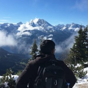 Aditya Pande with German Alps