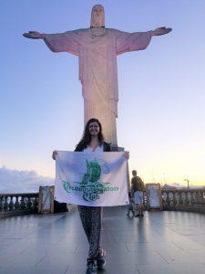 Ann Kathrin Merz in Rio de Janeiro