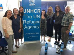 The team visited UNHCR