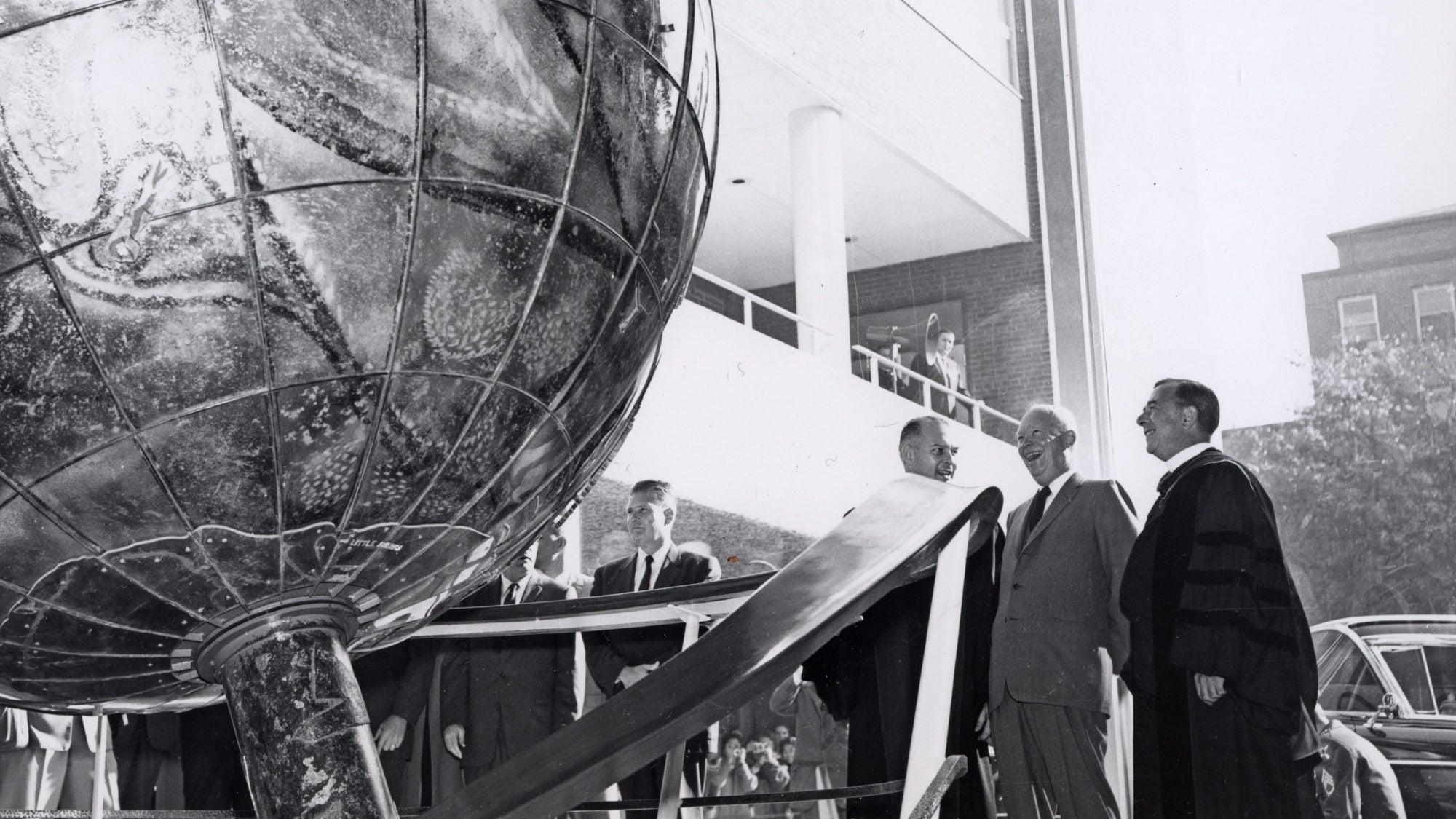 Eisenhower at Walsh dedication