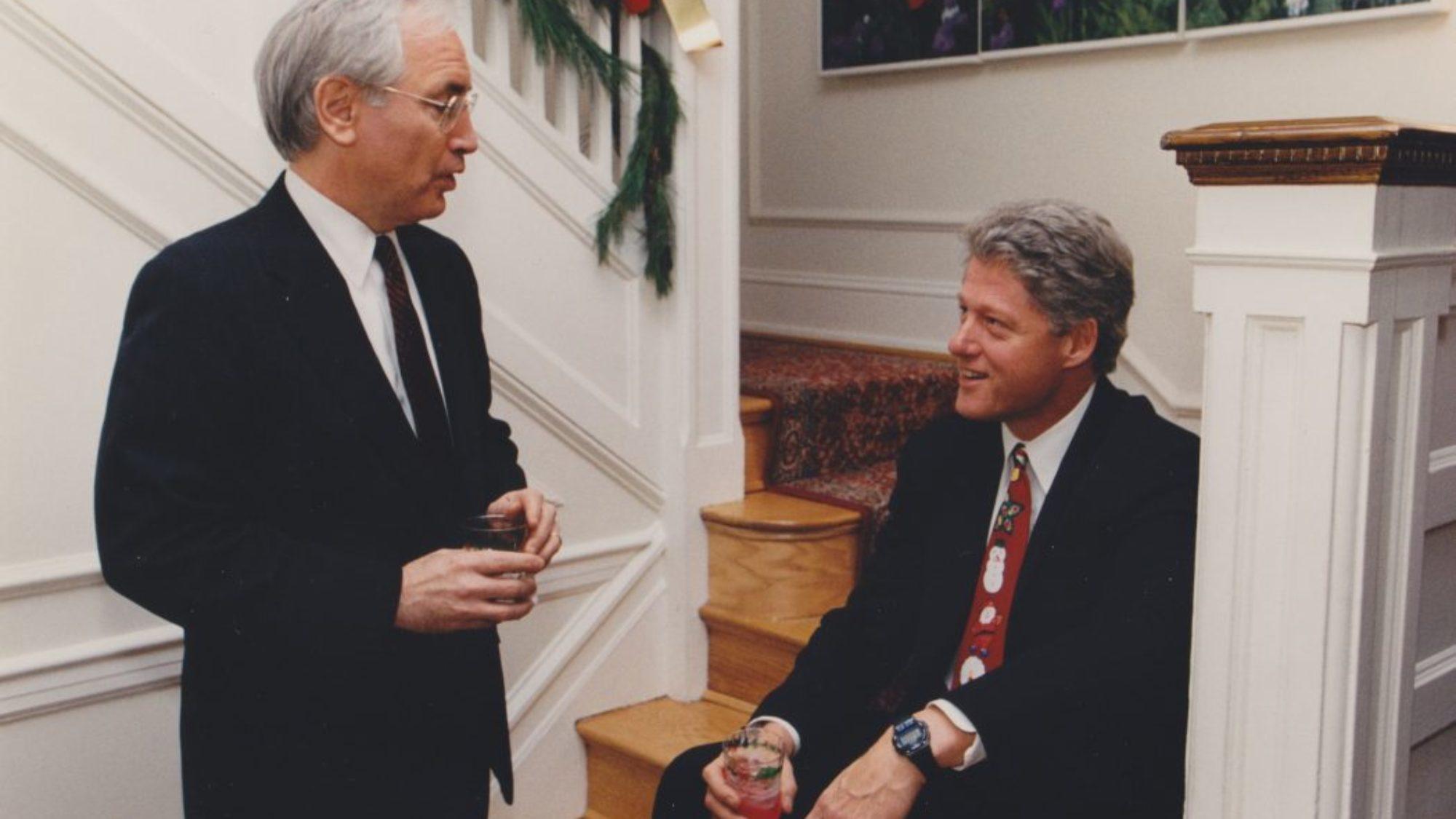Phillip Verveer and Bill Clinton