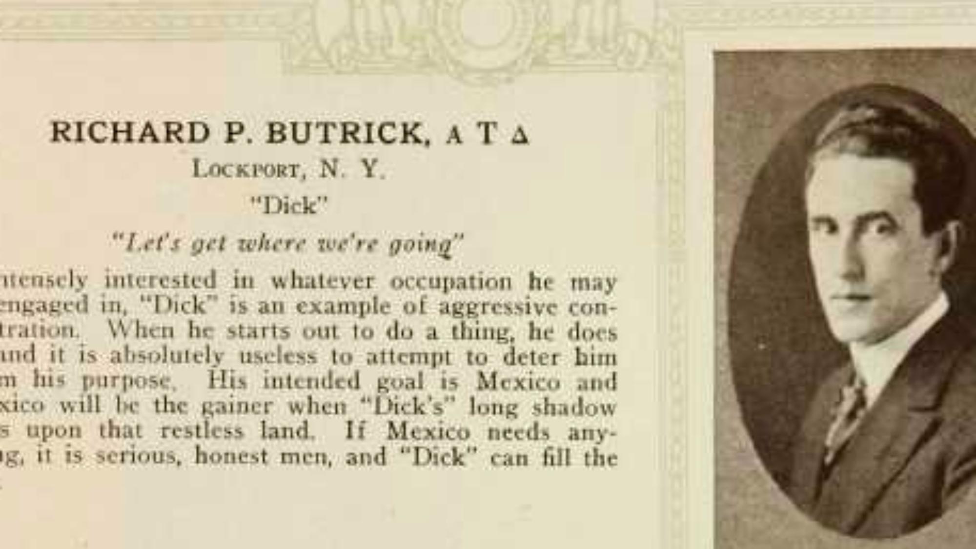 Richard P. Butrick yearbook photo