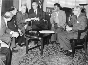 Ambassador Lawson in meeting with Dr. Baruch and others