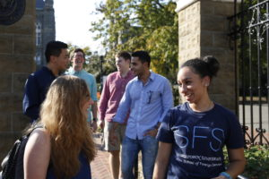 Students at Front Gates