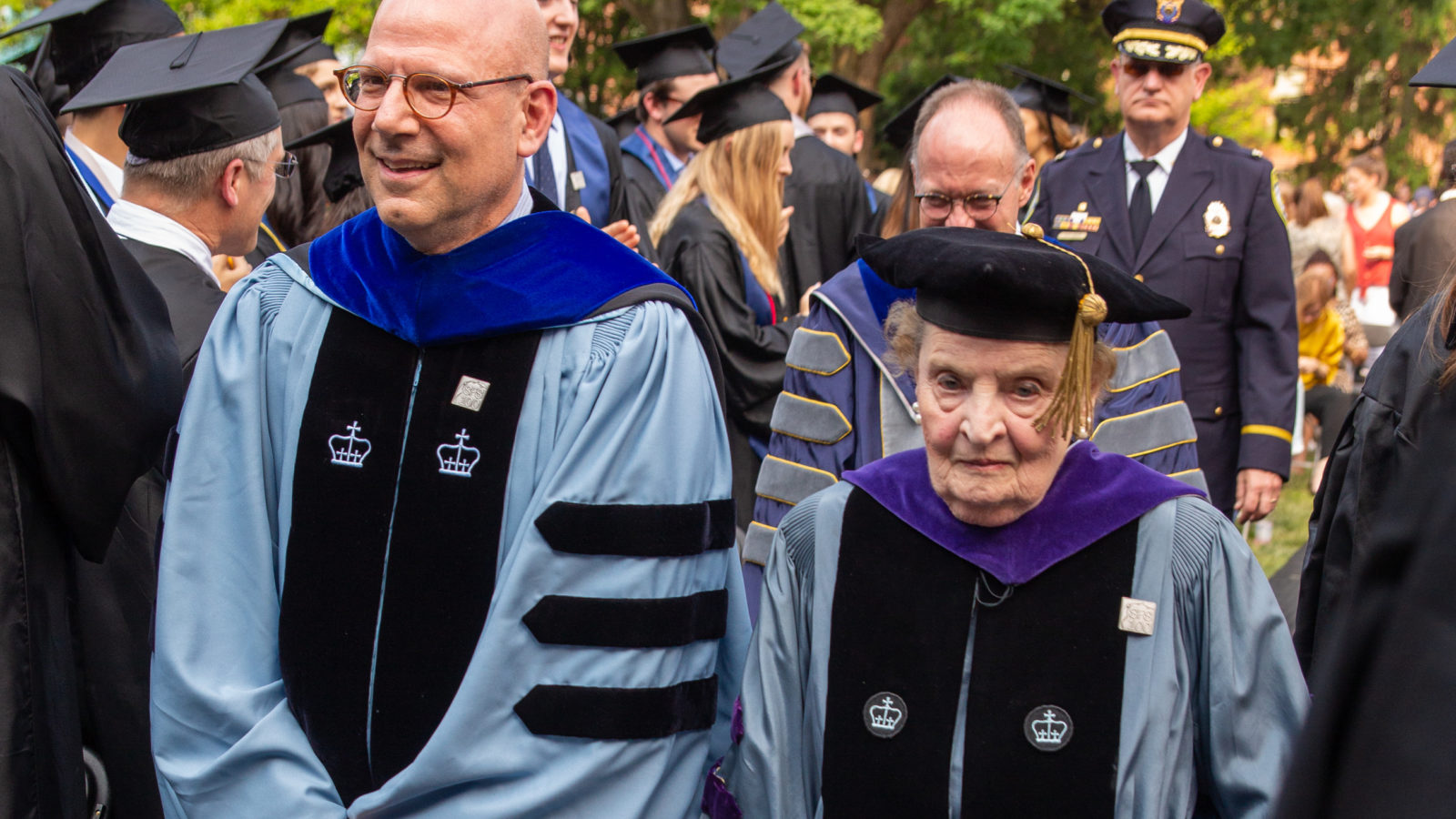 President Dean Helman & Madeline Albright graduation