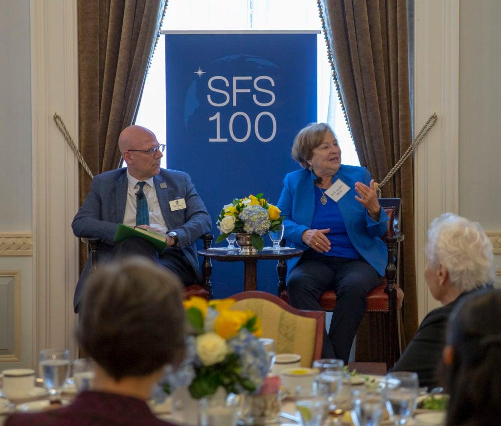Professor Angela Stent, with SFS Dean Joel Hellman
