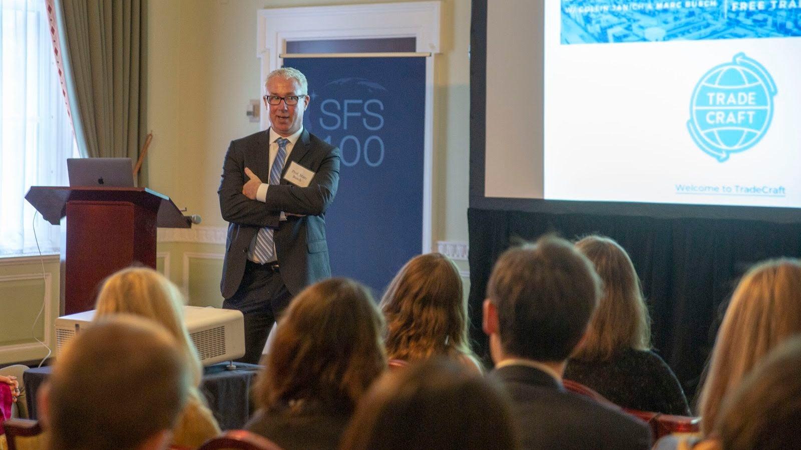 Professor Marc Busch, the Karl F. Landegger Professor of International Business Diplomacy