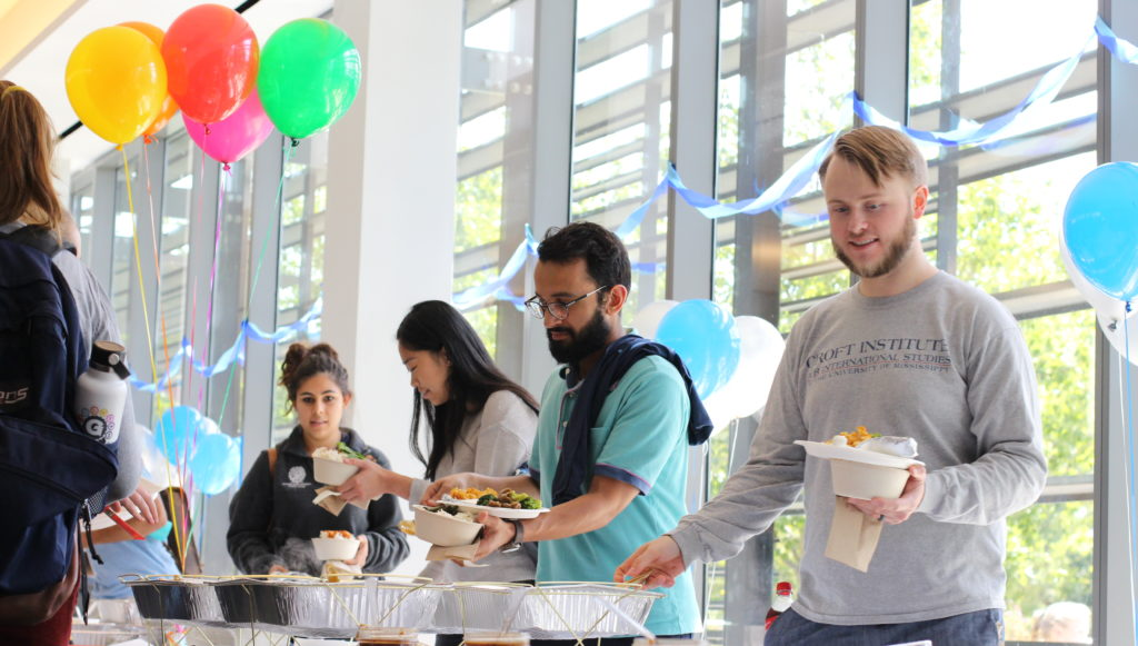 Students get lunch at SFS birthday bash