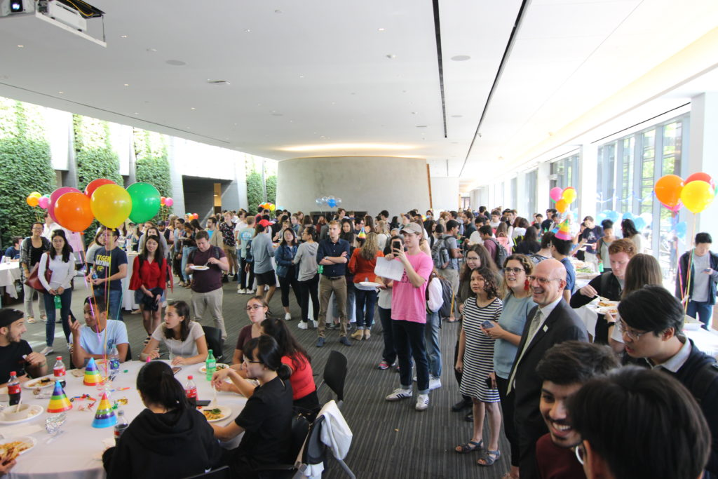 Students gather for SFS birthday bash