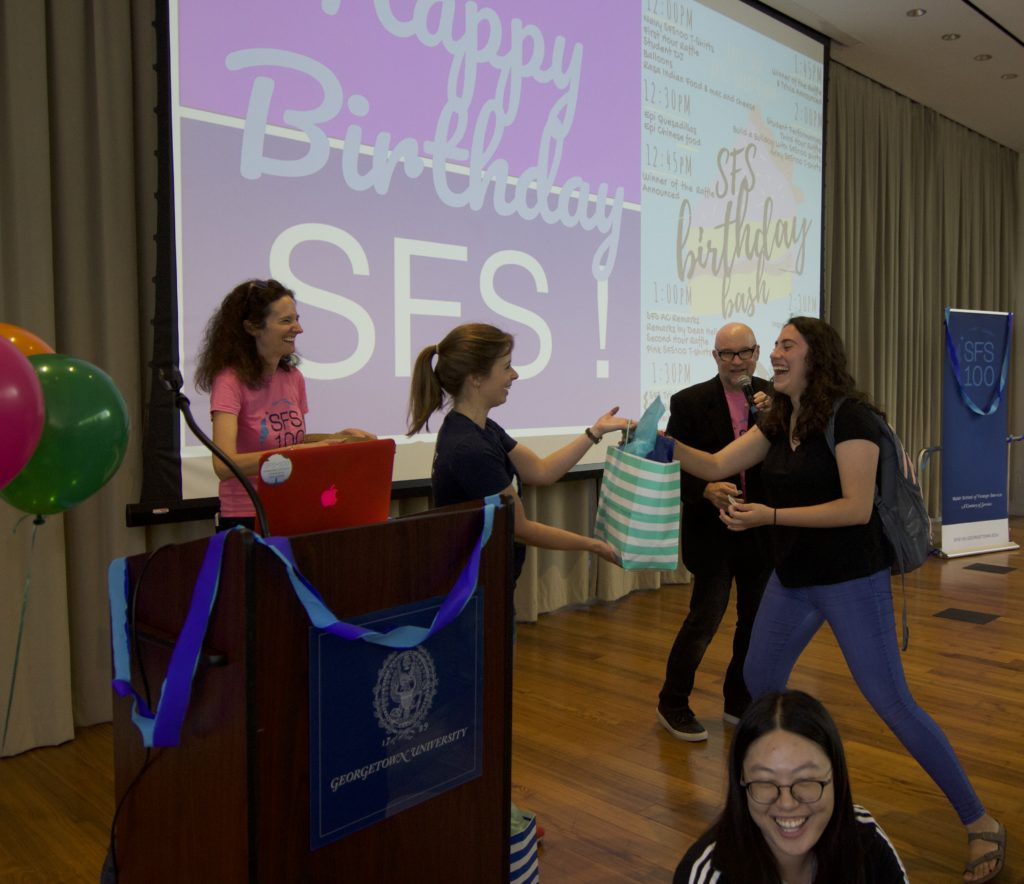 Student wins prize at SFS birthday