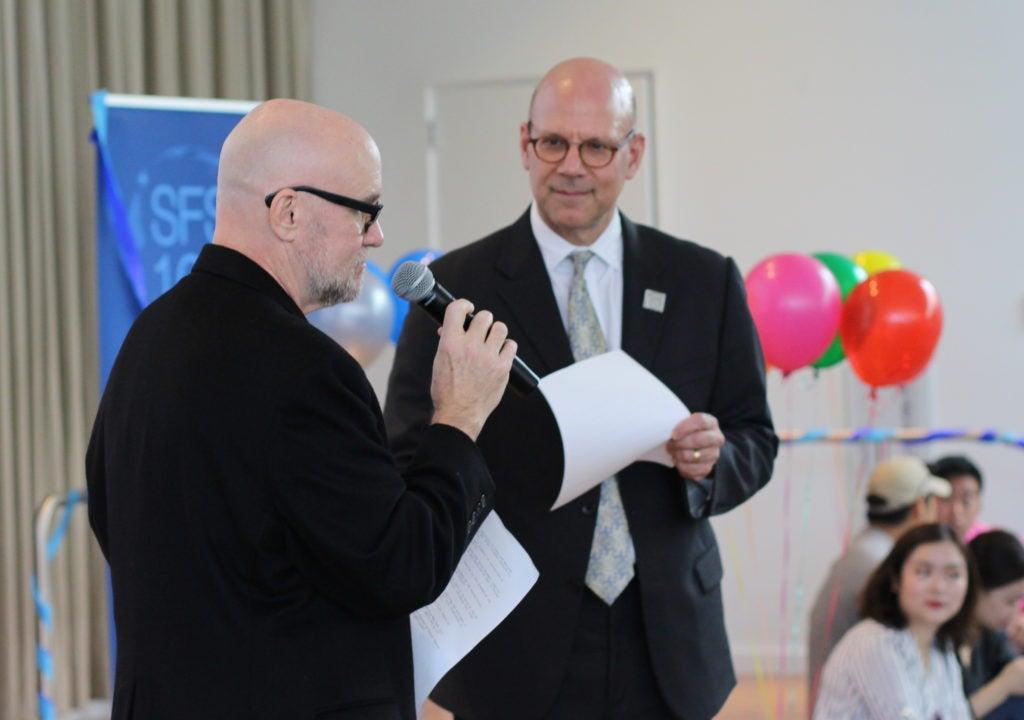 Dean Hellman and Will Layman deliver SFS trivia