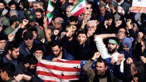 Soleimani protest in Tehran
