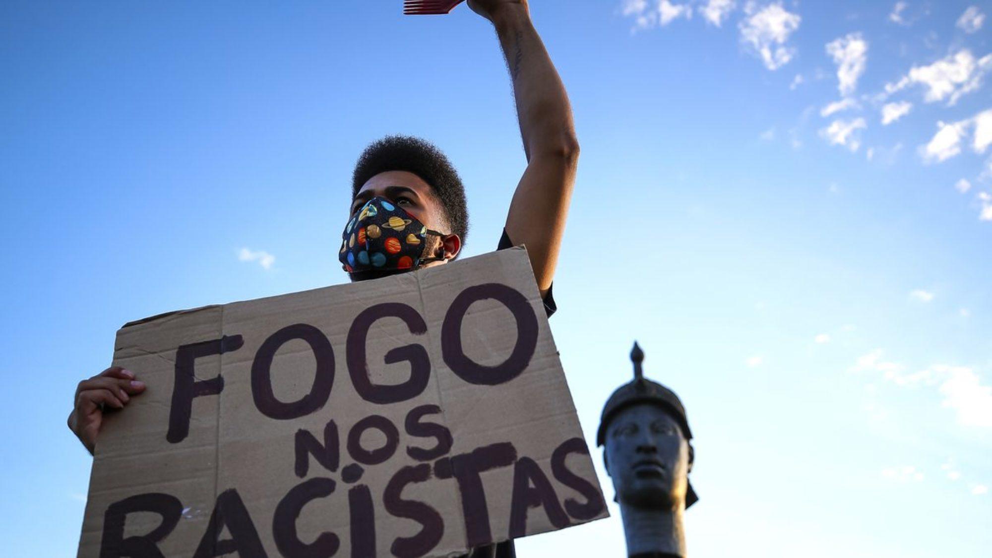 Protestor in Brazil