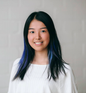 Profile photo of Wendy Xia. She is wearing a white shirt and has blue tips in her hair.