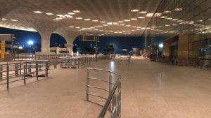 Panoramic shot of an empty airport