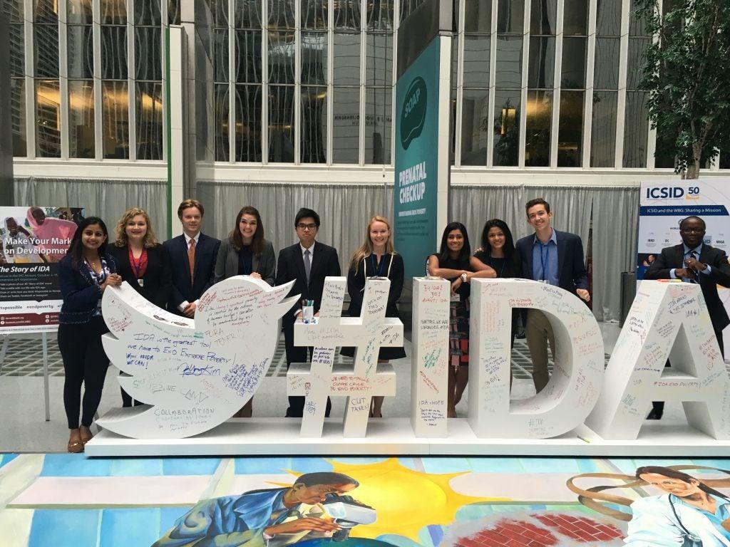 Students at IMF meetings
