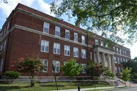 Photo of the exterior of Benjamin Banneker Academic High School in Washington, DC.