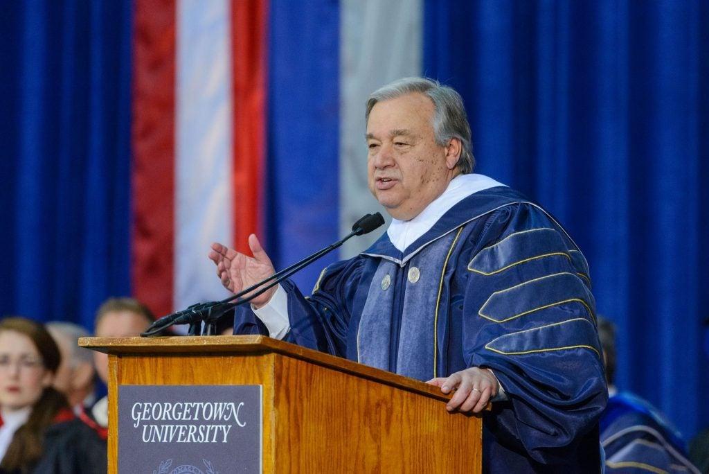 António Guterres commencement speech 2019